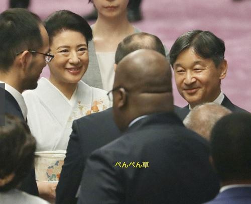 両陛下、アフリカ首脳と皇居で茶会