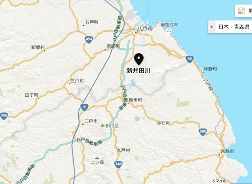 青森県八戸市新井田川