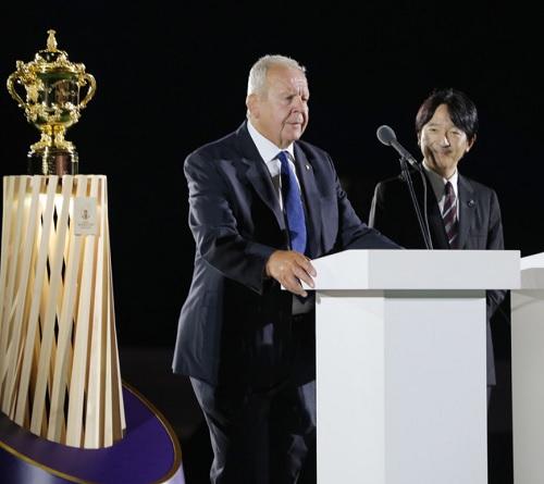 開会式に出席された秋篠宮さま・wカップラグビー