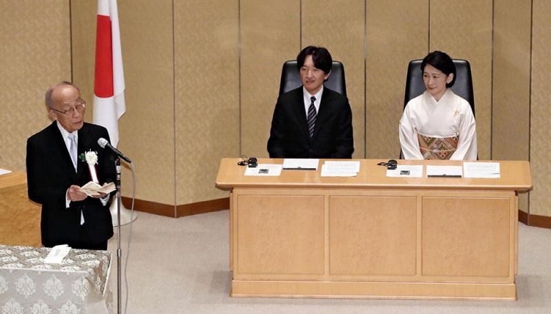 秋篠宮殿下紀子さま国際生物学賞の授賞式に出席