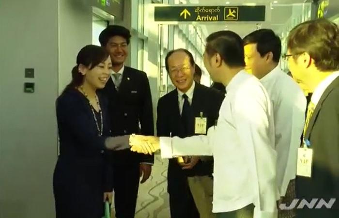 瑤子さまヤンゴン到着