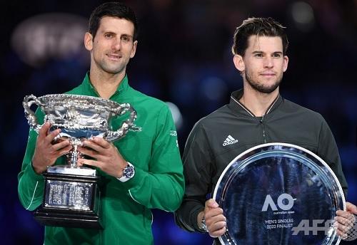 ジョコビッチとティーム2020年全豪オープンテニス