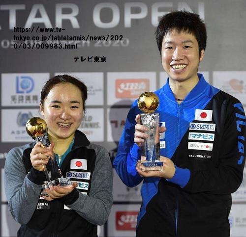 水谷隼・伊藤美誠、中国ペアを下して優勝