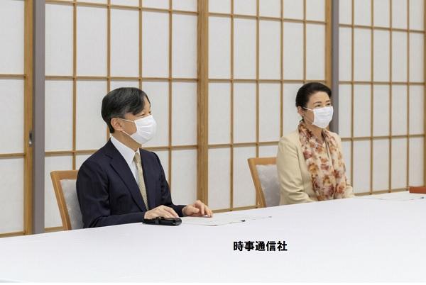 天皇皇后雅子さま日銀総裁に話を聞く