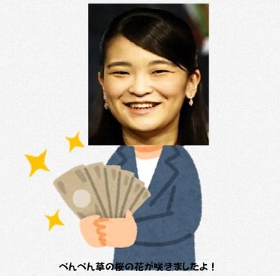 眞子さんは結婚一時金を辞退する気はない