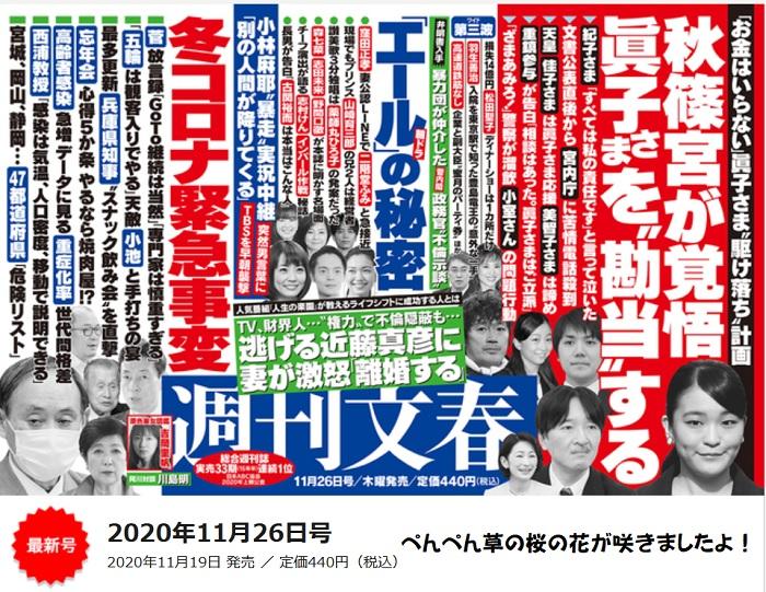 2020年11月26日号週刊文春