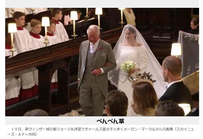 チャールズ皇太子メーガン結婚式