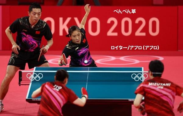 日本卓球金メダル伊藤美誠水谷準